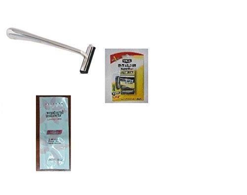 trac-ii-chrome-handle-schick-super-ii-plus-razor-blades-5-ct-with-free-loving-color-trial-size-condi