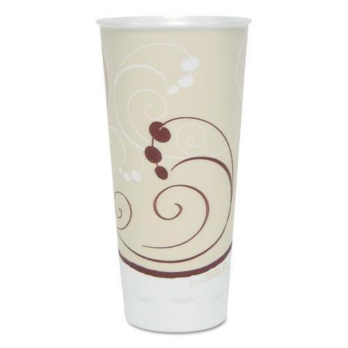 SOLO Cup Company Symphony Trophy Plus Dual Temperature Cups, 22 oz, Beige, 750/Carton SCCX22NSYM