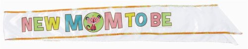 """Amscan Adorable Fisher Price Baby Shower Party Decoration Fabric Sash, 30"""", Brown/Yellow/Pink/Blue/White/Green"""