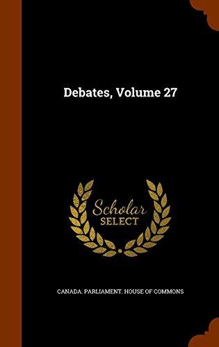 Debates, Volume 27