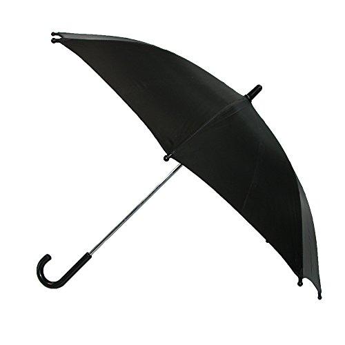CTM Kids' Solid Color Stick Umbrella, Black (Small Handle Umbrella compare prices)