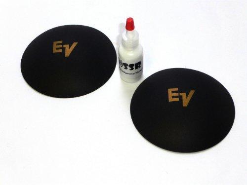 "2 Ev Electro Voice 4 1/8"" Logo Dust Caps With Adhesive - Gold Logo"