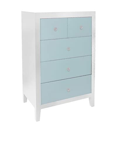 Three Hands Five Drawer Cabinet in Light Blue