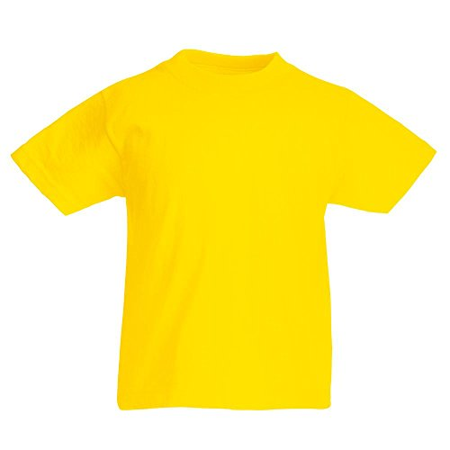 fruit-of-the-loom-kinder-t-shirt-kids-original-t-yellow-152