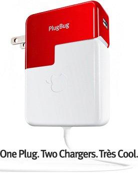 PlugBug MacBook電源アダプタと合体するiPhone/iPod/iPadのUSB充電コネクタ twelvesouth