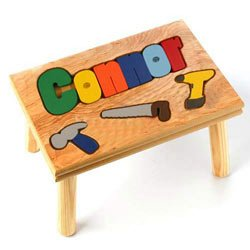 Personalized Tool Puzzle Stool by Ababy