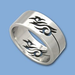 Tribal Band Stainless Steel Ring Ring Size:13