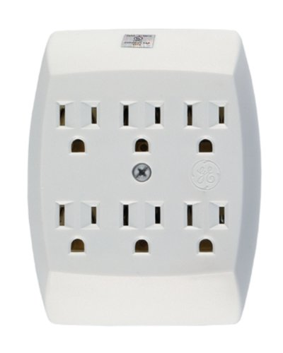 54947 6-Outlet Grounded In-Wall Adapter WhiteB00006IBH1