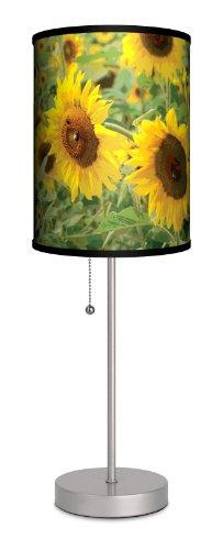 D?Cor Art - Sunflowers Sport Silver Lamp front-40417