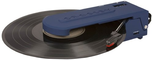 Crosley CR6020A-BL Revolution Portable USB Turntable with Software Suite for Ripping and Editing Audio (Blue)