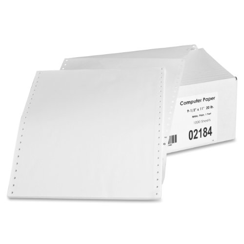Sparco Feed Paper, Continuous, Plain, 1-Part, 9.5 x 11 Inches, with perforations  1000/Count, WE (Printer Paper 1000 compare prices)