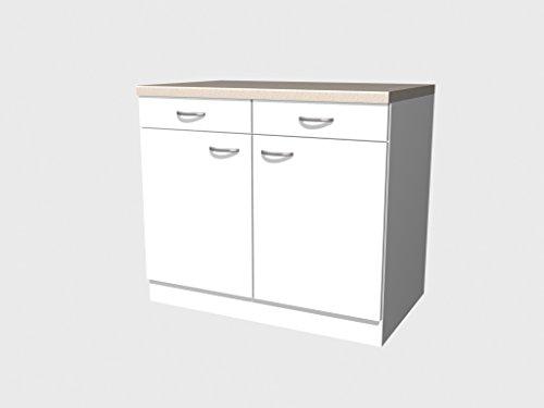 Küchen Unterschrank 100 cm weiss – Witus