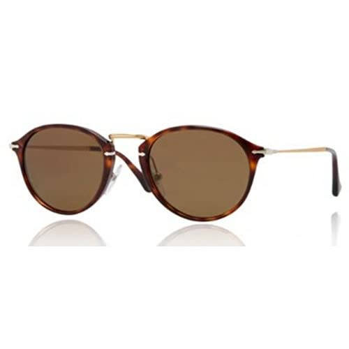 Persol 3046S 24 57 Tortoise and Gold 3046S Round Sunglasses Polarised Driving L
