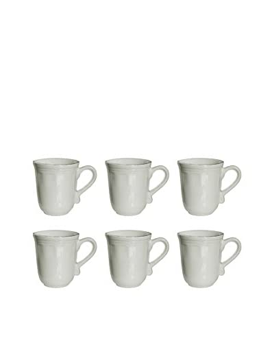 10 Strawberry Street Set of 6 Oxford 16-Oz. Mugs, Cream