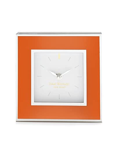 Isaac Mizrahi Square Clock, Orange