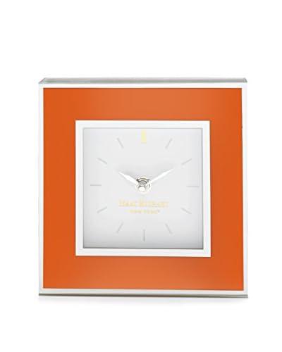 Isaac Mizrahi Square Clock, Orange