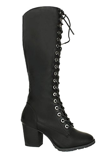 Gothic-Grunge-Lace-Up-Military-Combat-Vintage-Style-Steampunk-Women-Boots