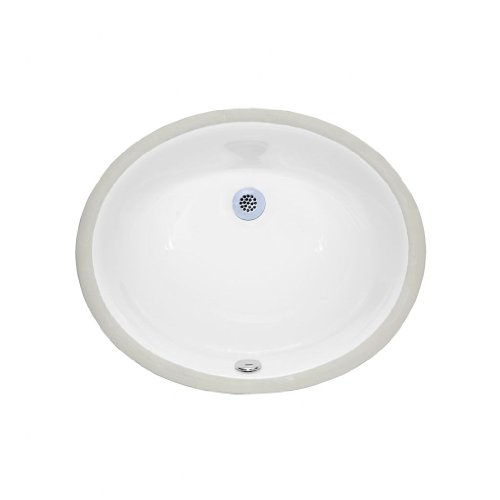 American Imaginations 538 20-Inch x 15-Inch CUPC Approved Oval Undermount Sink, White
