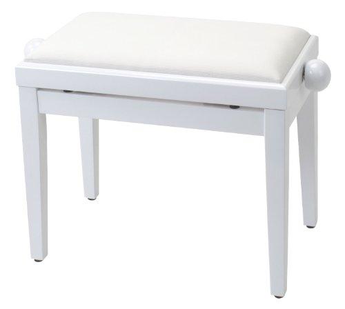pianos et claviers accessoires classic cantabile banque de piano en blanc brillant. Black Bedroom Furniture Sets. Home Design Ideas