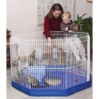 Marshall Small Animal Playpen Mat/Cover 8-Panel, Colors Vary