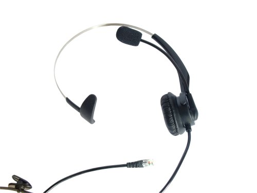 Lotfancy New T400 Headset Headphones Ear Phone For Nortel Networks (Northern Telecom) M5208, M5209, M5216, M5317, M8001, M8003, M9516, M9009, M7308, M7316, M7900; Bt Converse 220, 225, 300, 320, 325, 420, 425, 1100, 1200, 1300, 1400, Paragon 450; Nt8B20,