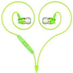 HOCO M4 Premium Stereo HIFI In Ear Earbuds/Earphone/Headphone/Headsets With Microphone,Wire Remote Control Button Compatible For Universal Devices. (Green)