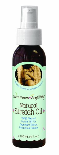 Earth Mama Angel Baby Natural Stretch Oil, 4-Ounce Bottle