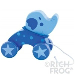 Rich Frog Wooden Pull Toy - Elephant