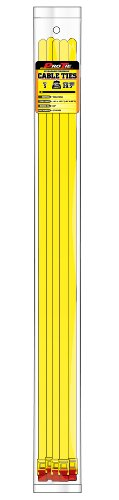 Pro Tie QT29EHD5 29-Inch Quik Tie Reusable Quick Release Cable Tie, Yellow Nylon, 5-Pack