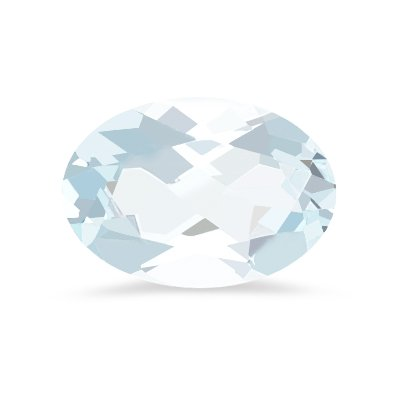 1.50 Cts of 9x7 mm Oval A Loose Aquamarine ( 1 pcs ) Gemstone