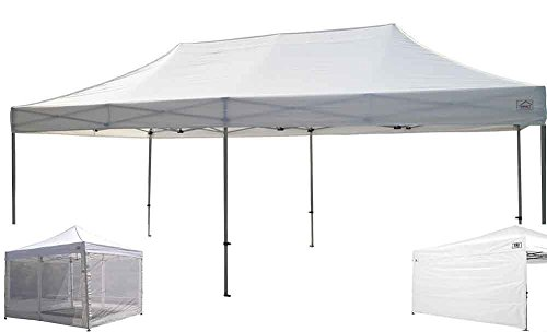 Impact Canopy 10 X 20 Ez Pop up Canopy Tent Commercial Instant Gazebo with Sidewalls and Screen Room Side Walls (10x20 Canopy Commercial compare prices)