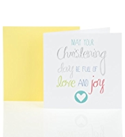 Silver Foil Christening Day Card