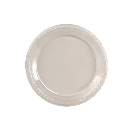 Creative Converting Touch of Color 50 Count Plastic Lunch Plates, Clear