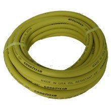 GoodYear 045 3/8-Inch-by-50-Feet Safety Yellow Rubber Hose 3/8 -Inch by 50-Feet 250 PSI With 1/4-Inch Ends