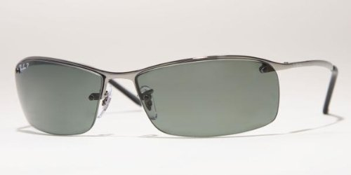 RAY BAN 3183 004/9A GUNMETAL POLARIZED SUNGLASSES