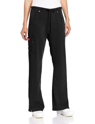dickies-women-s-petite-xtreme-stretch-junior-fit-drawstring-flare-leg-pant-black-medium