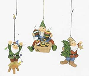 Adorable Christmas Gnomes Tree Ornaments Set 3