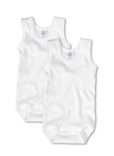 Sanetta Unisex - Baby Body 321859, 2Er Pack, Einfarbig