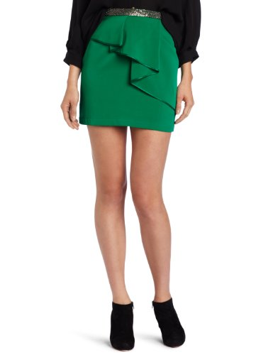 Robert Rodriguez Women's Folded Pleat Mini Skirt