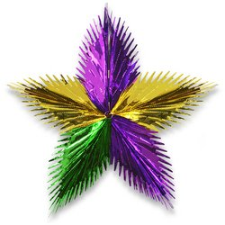 Leaf Starburst (gold, green, purple) Party Accessory  (1 count) (1/Pkg)