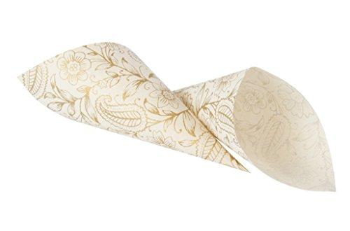Cônes pour Confetti de mariage en Papier Lokta fabriqué à la main Motif jardin Doré-Au Pays de Galles
