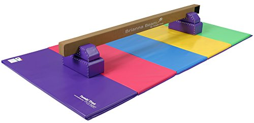 Tumbl trak purple brianna balance beam with leg bases for Bright beam goods