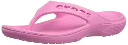 Crocs Unisex-Child Baya Flip Clogs 12066-669-135 Pink Lemonade 3 UK, 35 EU, 3 US