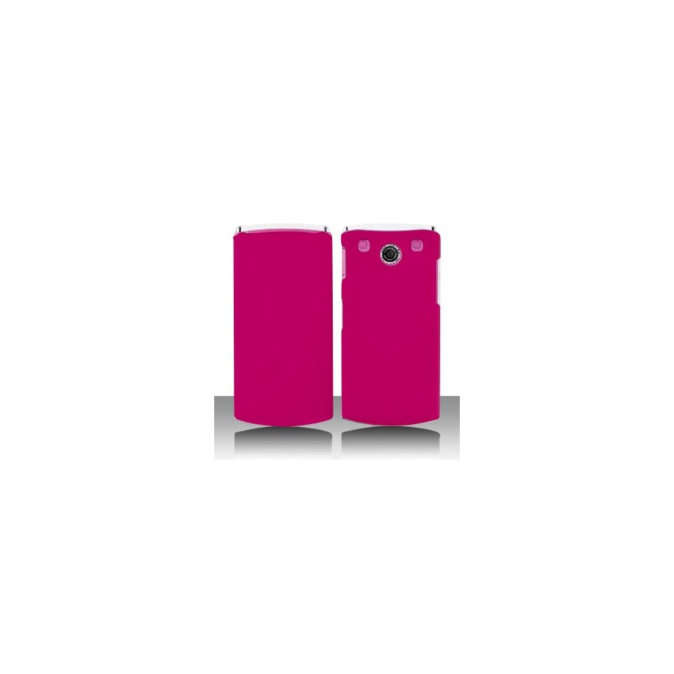 Premium   LG GD570/dLite Rubber feel Rose Pink Cover   Faceplate   Case   Snap On   Perfect Fit Guaranteed