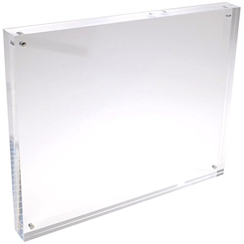 4x6 Clear Acrylic Picture Frame - 20% Thicker Than Standard - 0.95 inch/24 mm Thick - Magnetic Acrylic Photo Frames - Desktop Only (Float Photo Frame compare prices)