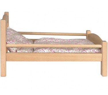 egmont-toys-lit-de-poupee-en-bois-avec-garniture-a-fleurs