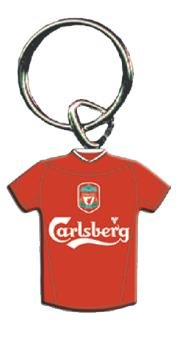 OFFICIAL LIVERPOOL HOME SHIRT ENAMEL KEYRING