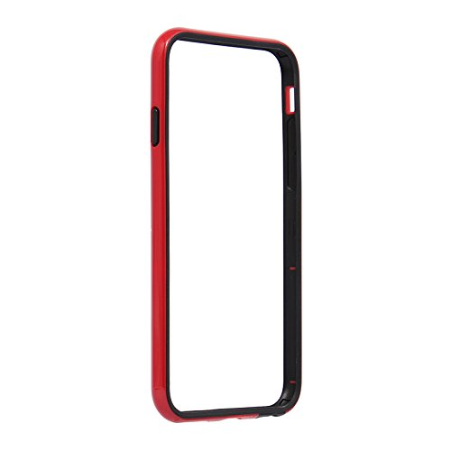 MS Products iPhone 6/6s用 SLIM LINE ハイブリッドバンパー レッドLEPLUS(ルプラス) LP-I6SBHVRD
