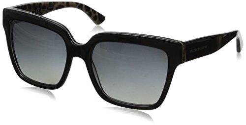 D&G Dolce & Gabbana Women'S 0Dg4234 Square Polarized Sunglasses,Top Black/Leopard,57 Mm