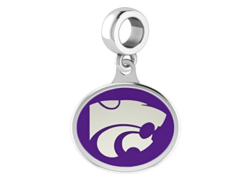 Kansas State University Wildcats Drop Charm Fits All European Style Beaded Charm Bracelets